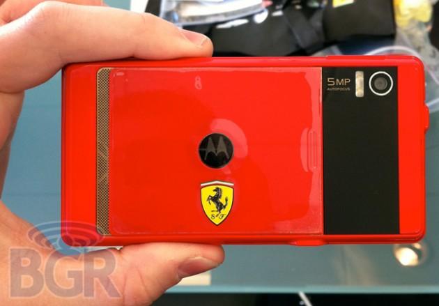 Ferrari-editie van Motorola Milestone gespot