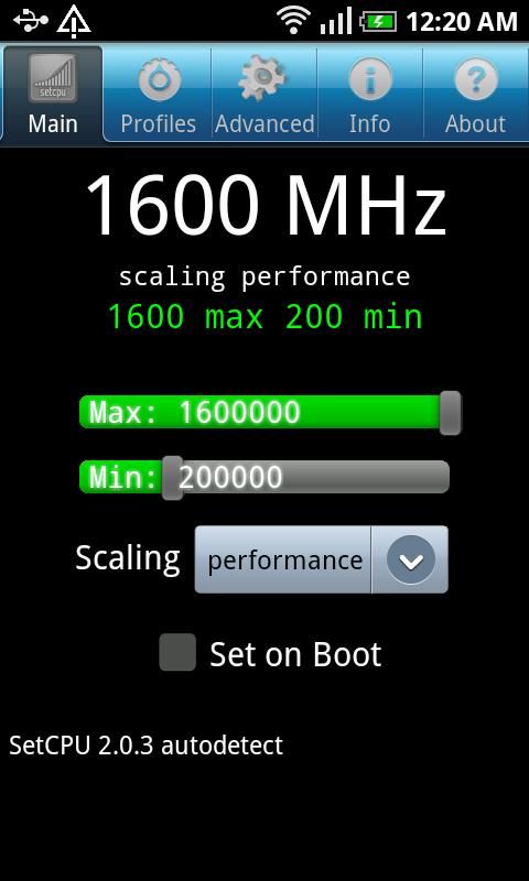 Samsung Galaxy S opkrikken naar 1,6 GHz