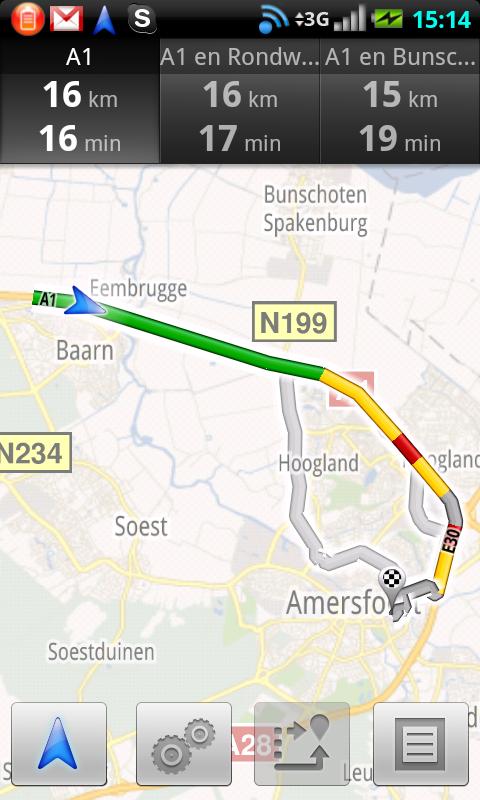Google Maps Navigatie toont verkeersdrukte op Nederlandse snelwegen