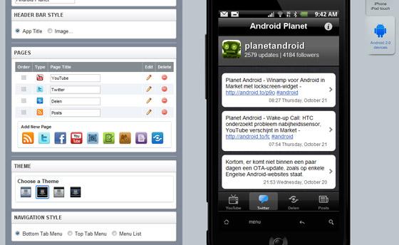 Widgetbox: maak je eigen mobiele applicatie in een paar klikken