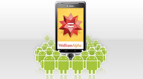 Wolfram|Alpha in Android Market verschenen