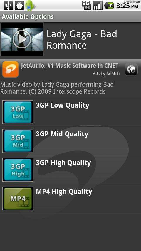 YouTube-filmpjes downloaden op je Android-telefoon met jetVD
