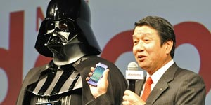 Darth Vader in Japanse Galaxy S-commercial