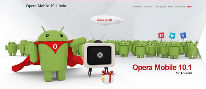 Opera Mobile komt op 9 november