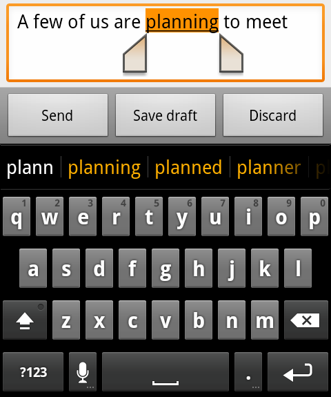 Gingerbread-toetsenbord is al beschikbaar voor Android 2.2