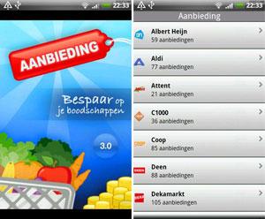 Aanbieding 3.0 voor Android toont aanbiedingen van nog meer supermarkten
