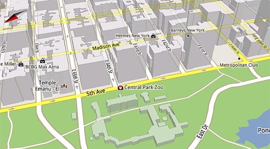 Google Maps 5 bevat 3D-gebouwen en offline-ondersteuning