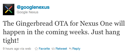 google nexus tweet