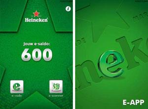 Heineken lanceert spaarpunten-app met QR-codes
