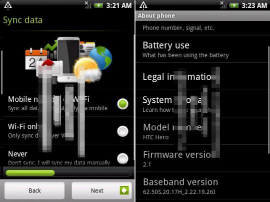 Android 2.1 met SenseUI uitgelekt en update CyanogenMod
