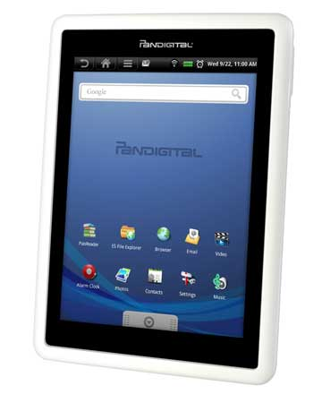 Libris-boekhandels lanceren Android-tablet Pandigital Novel
