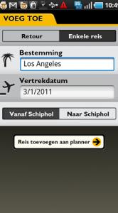 Door je vlucht toe te voegen aan de planner volg je vanzelf de actuele status.