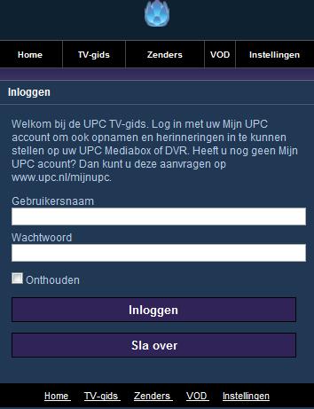 UPC lanceert mobiele site om tv-programma's op afstand op te nemen