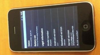 Android 2.3 Gingerbread te installeren op iPhone 3G