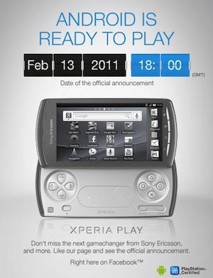 Officiële aankondiging Sony Ericsson Xperia Play op 13 februari