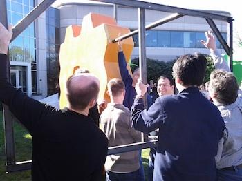 Honeycomb-standbeeld bij Google gearriveerd