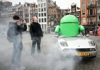 Android-landing in Amsterdam (video)