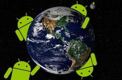 android wereldbol