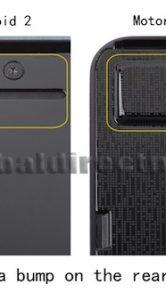 Motorola Milestone 3 - achterzijde