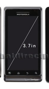 Motorola Milestone 3 - scherm