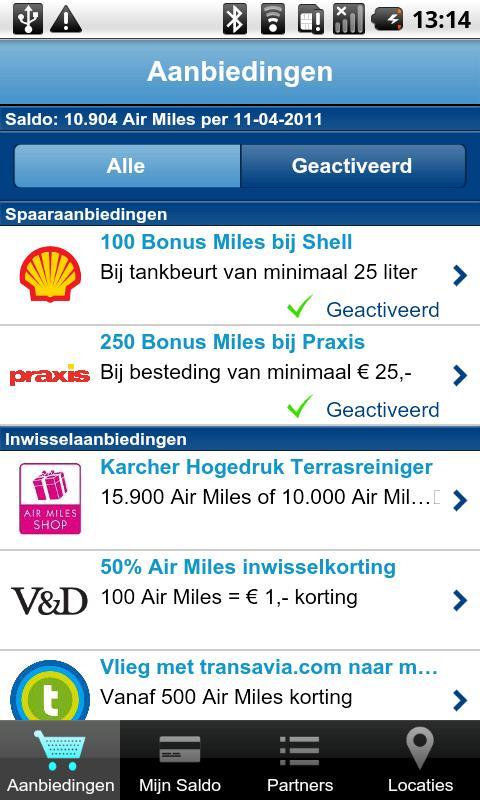 Air Miles-applicatie voor Android uitgekomen