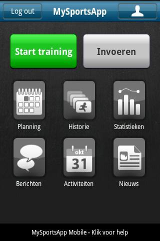 Mobiele trainingsapplicatie MySportsApp in de Market