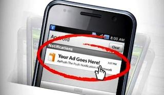 Advertentiedienst Airpush neemt maatregelen na klachten van Android-gebruikers