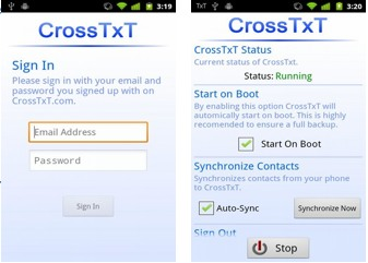 crosstxt android