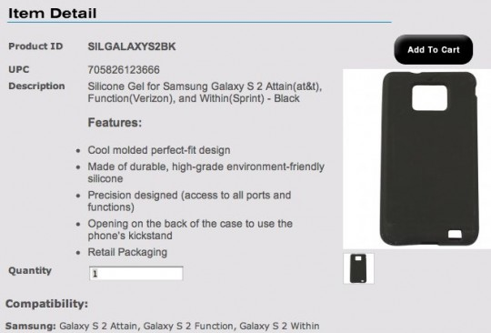 galaxy s ii namen