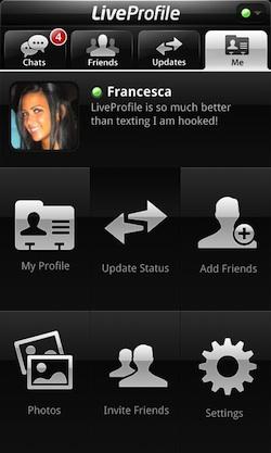 liveprofile pagina