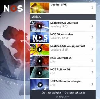 Mobiele website van de NOS totaal vernieuwd
