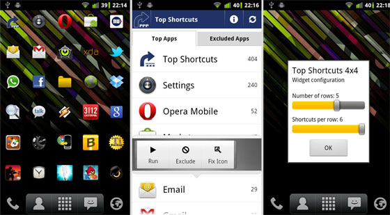 top-shortcuts-android