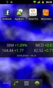 Android Stocks Tape Widget_1