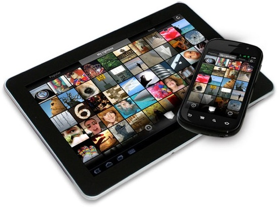 lightbox tablet phone