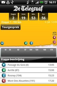 Telesport Ronde App: volg de Tour de France op je Android-toestel