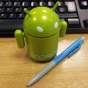 Bluetooth luidspreker in de vorm van de Android-mascotte