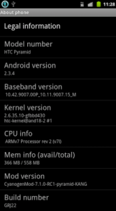 HTC Sensation CyanogenMod 7.1 RC1