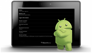 Android app-player voor BlackBerry PlayBook gelekt