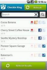 Checkin King: inchecken op Foursquare, Facebook, Google Places en Gowalla