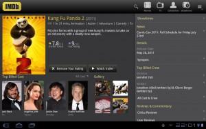 IMDb voor Android nu ook geoptimaliseerd voor tablets