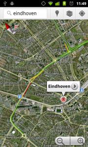 Verkeersinformatie Eindhoven via Google Maps Android