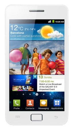 Witte Samsung Galaxy S II