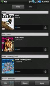 Zinio Android-app voor telefoons