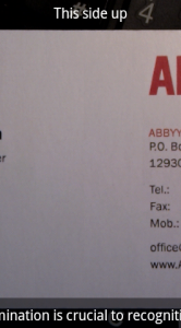 Visitekaartjes inlezen met ABBYY Business Card Reader