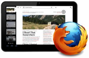 Mozilla bezig met tabletversie van Firefox