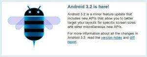 Android 3.2 SDK nu beschikbaar voor ontwikkelaars
