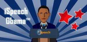 Klink zoals de president van de Verenigde Staten met iSpeech Obama