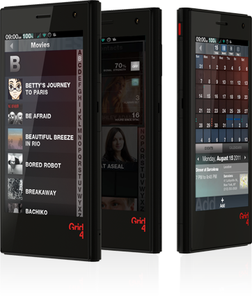 Grid 4 smartphone