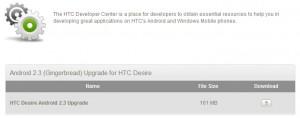 HTC Desire Gingerbread-update officieel beschikbaar