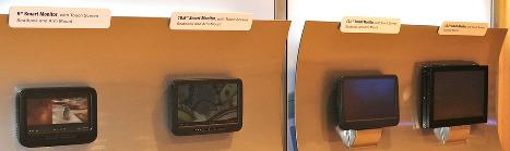 Schermen die gebruikt gaan worden in de Boeing 787 Dreamliner